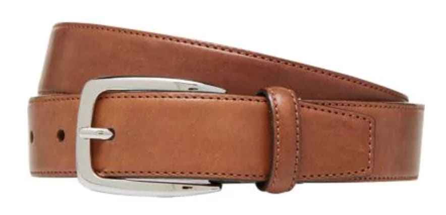 Jos. A. Bank Men's Stitched-Edge Leather Belt for $6 + free shipping