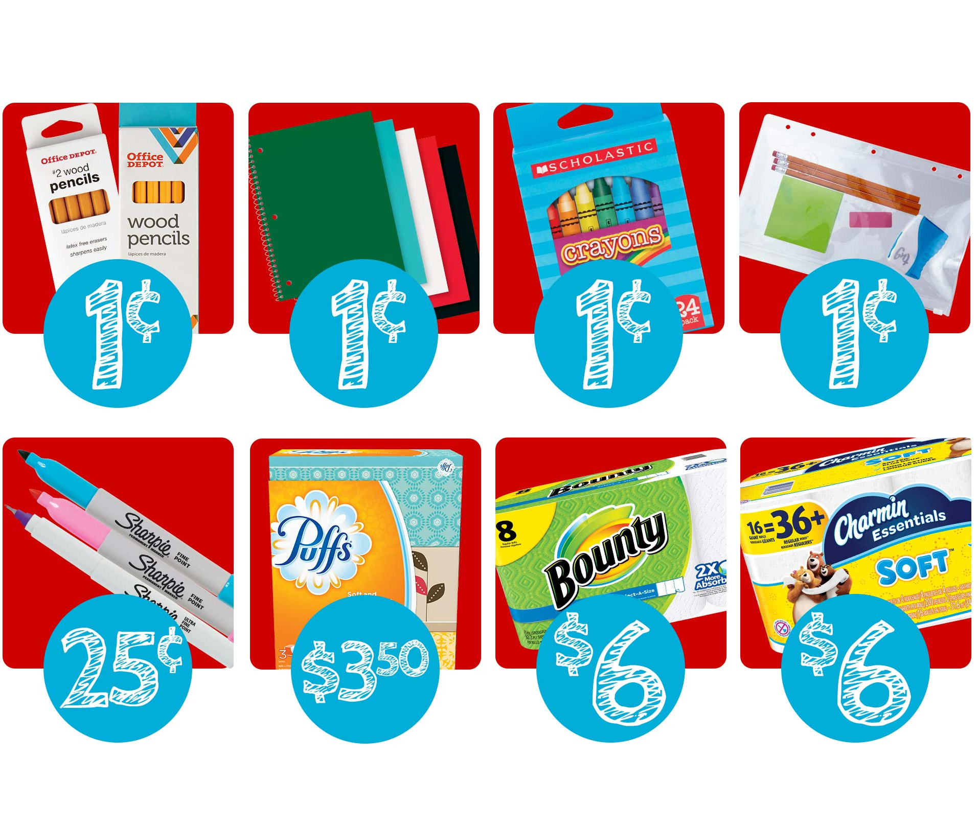 School Supplies at Office Depot and OfficeMax: Deals from 1 cent + in-store only