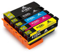 Epson-Compatible Ink Cartridge 5-Pack for $25 + free shipping w/ Prime
