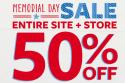 Carter's and OshKosh B'Gosh Sale: 50% off + 25% off + free shipping w/ $50