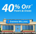 Sherwin-Williams Sale: 40% off paints and stains + in-store only
