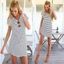 Women's Striped Mini Dress for $7 + free shipping