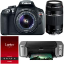 Canon EOS Rebel T6 18MP DSLR Camera Bundle for $350 after rebate + free shipping