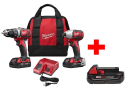 Milwaukee 18V Drill/Driver Kit w/ 3 Batteries for $169 + free shipping