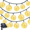 Oak Leaf 23-Foot 30-LED Solar Light Strand for $5 + free shipping w/ Prime