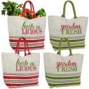 4 Large Reusable Shopping & Market Bags for $16 + free shipping