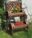 Stonegate Designs Trellis Barrel Planter for $36 + Northern Tool pickup