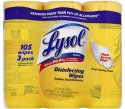 Lysol Disinfecting Wipes 35-Count Tub 3-Pack for $5 + pickup at Walmart