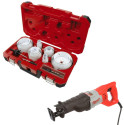 Milwaukee Hole Saw Kit, 12A Reciprocating Saw for $129 + $11 s&h
