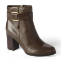 Lands' End Women's Leather Ankle Boots for $42 + free shipping w/ $50