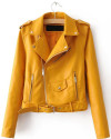 SheIn Women's Faux Leather Zippered Jacket for $44 + free shipping