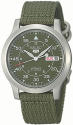 Seiko Men's Seiko 5 Canvas Watch for $50 + free shipping