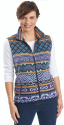 Women's Printed Andes Fleece Vest for $30 + free shipping