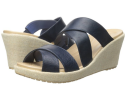 Crocs Women's A-Leigh Wedge Sandals for $28 + free shipping w/ Prime