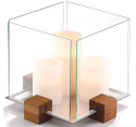 "Dansk 9"" Design with Light Cubic Candlescape for $36 + $10 s&h"
