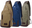 Valencia Canvas Shoulder Sling Bag for $16 + free shipping