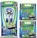 Dorco Men's Pace 6 Plus Razor Combo Set for $11 + free shipping