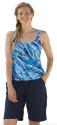 Swim 365 Women's Print Tankini Swim Top for $17 + $6 s&h