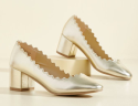 ModCloth Women's Scallop Gallivant Heels for $20 + free shipping
