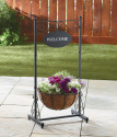 Welcome Sign Stand with Planter for $25 + free shipping