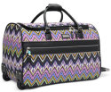 "Steve Madden Patchwork 21"" Rolling Duffel for $80 + free s&h w/beauty item"