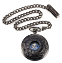 KS Men's Hollow Case Mechanical Pocket Watch for $14 + free shipping w/ Prime