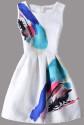 SheIn Women's Graffiti Sleeveless Flare Dress for $13 + free shipping