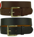 Men's Solid Leather Belt 2-Pack for $7 + $3 s&h