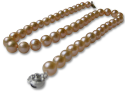 10mm AAA Pink Freshwater Pearl Necklace for $38 + free shipping