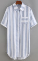 SheIn Women's Vertical Striped Shirt Dress for $15 + free shipping