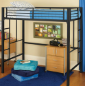 Your Zone Metal Loft Twin Bed for $119 + free shipping