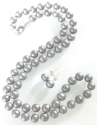 7.5mm Freshwater Pearl Necklace, Earrings Set for $12 + free shipping