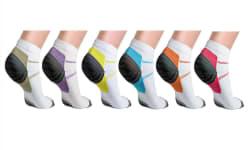 Unisex Ankle Compression Socks 6-Pack for $17