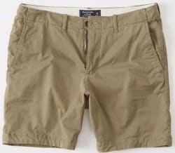 Abercrombie & Fitch Men's Flat-Front Shorts $19