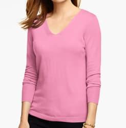 Talbots Women's Merino Wool V-Neck Sweater for $35