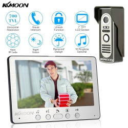 "KKmoon 7"" Wired Visual Intercom Doorbell for $51"