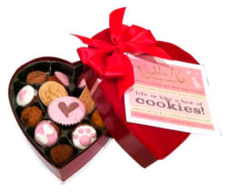 Dog Cookies in Heart-Shaped Box for $16