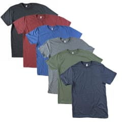 Men's Heathered T-Shirt 6-Pack (S) for $23