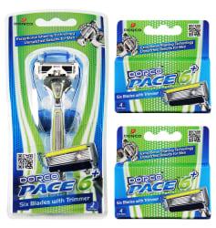 Dorco Men's Pace 6 Plus Razor Combo Set $13
