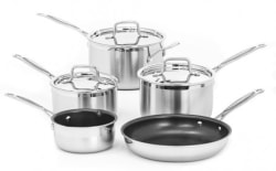 Cuisinart MultiClad Pro 8pc Cookware Set for $83
