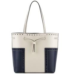 Tory Burch Block-T Brogue Drawstring Tote Bag $253