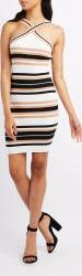 Charlotte Russe Women's Striped Bodycon Dress $12