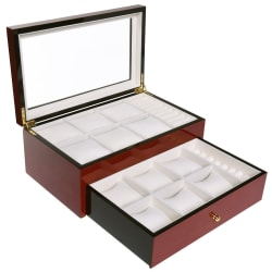 SkyMall Collection Cherry Wood Jewelry Box for $30