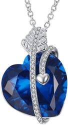 Caperci Cupid's Arrow Heart Pendant Necklace $16
