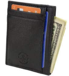 Hammer Anvil Men's Leather Anti-Theft Wallet $8