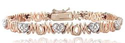 Diamond Accent Heart Mom Tennis Bracelet $24