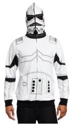 Men's Storm Trooper Full Face Hoodie for $19