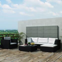17-Piece Poly Rattan Garden Sofa Set for $470