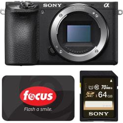 Sony a6500 24MP Camera, $200 Focus Cam GC $1,398