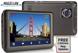 "Refurb Magellan 5"" GPS w/ Dashcam Recorder $60"